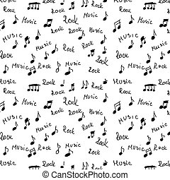 rock, music and musical notes