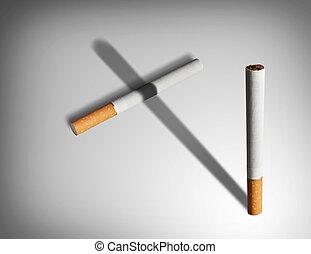 Smoking kills concept.