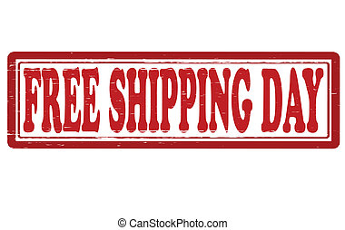Free shipping day - Stamp with text free shipping day...