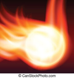 Abstract background with flames and fiery sphere. EPS10...