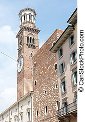 Lamberti Tower in Verona - The historic Lamberti Tower in...