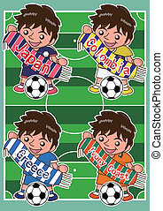 Vector cartoon soccer Sport Fan