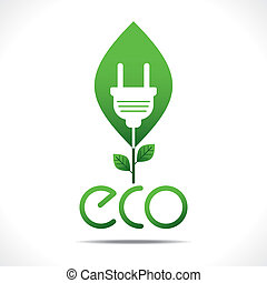 go green energy concept