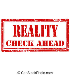 Reality-stamp - Grunge rubber stamp with text Reality-Check...