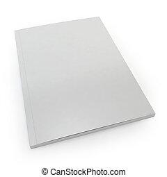 Blank magazine. 3d image isolated on white background