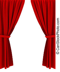 Png clipart background with red velvet curtain stage curtain clip art - Red Draped Curtains Clip Art And Stock Illustrations