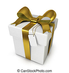 Gift box. 3d illustration isolated on white background