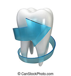 Tooth protection 3d illustration isolated on white...