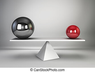 Two spheres in balance