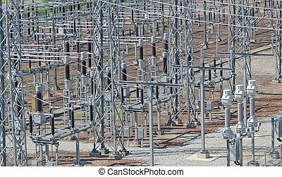 Voltage transformers. Part of Electric power plant.