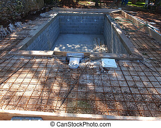 swiming pool - A Swimming Pool under construction