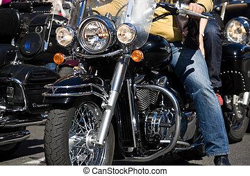 Bike show - Bikers at the bike show