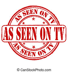 As seen on tv stamp - As seen on tv grunge rubber stamp on...