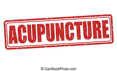 Acupuncture stamp - Acupuncture grunge rubber stamp on...