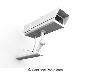 CCTV Surveillance Cam - 3D rendered Illustration.