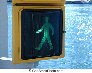 green trafic light for walking