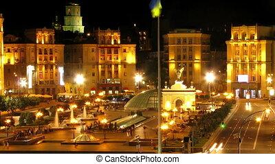 Kiev - Independence Square or Maidan Nezalezhnosti...