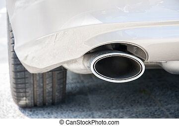 Car exhaust - car exhaust pollutants where they exit gases