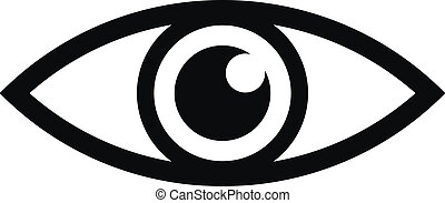 Eye icon on white background.