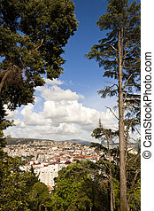 Vigo from the Castro. - View of Vigo city mountain outskirts...