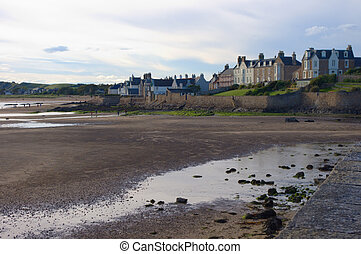 Bay in the Scotland, empty beach - Sea Bay in the Scotland,...