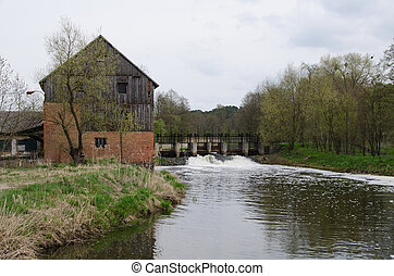 Old watermill in rural Poland