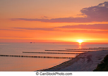Sunrise at the baltic sea