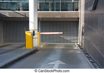 entry into the underground parking
