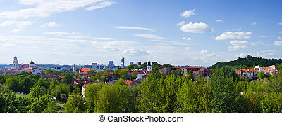 panorama of the city of Vilnius, Lithuania