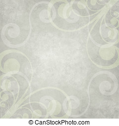 Swirl Border Paper - Abstract Paper - Light greenish gray...