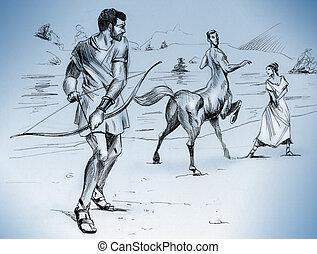 Heracles, chodzenie, zabić, Nessus