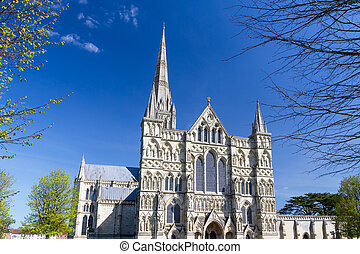 Salisbury Cathedral Wiltshire England UK - Early English...