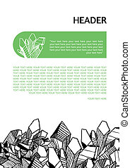 Template for design with crystals - Black, white and green...