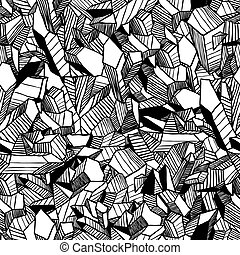 Seamless pattern with crystals - Seamless vector pattern...