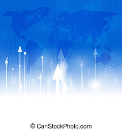 Arrows Up Abstract Business Background - abstract finance...