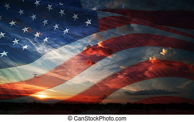Independence day. flag usa - flag usa on the background of...