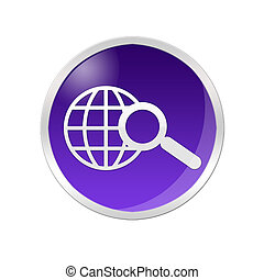 Searching Icon - Illustration of a searching icon inside a...