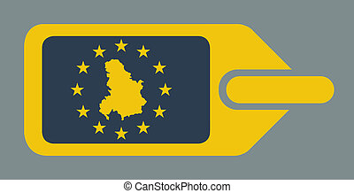 Serbia and Montenegro European luggage label - Serbia and...