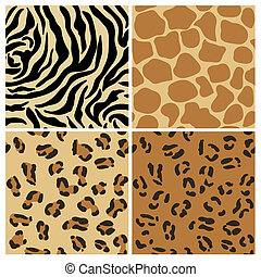 Set of Animal Patterns - for design and scrapbook - in...
