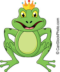 Prince frog cartoon