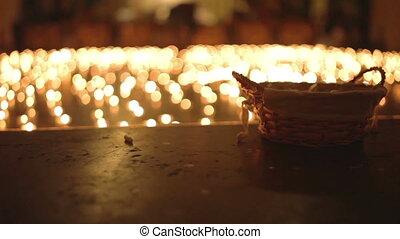 Night of Churches - Low light ambient shot of candles...