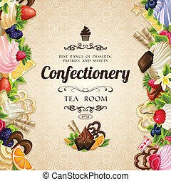 Sweets desserts cover - Sweets desserts food confectionery...