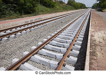 Railway - A pair of railway tracks under construction