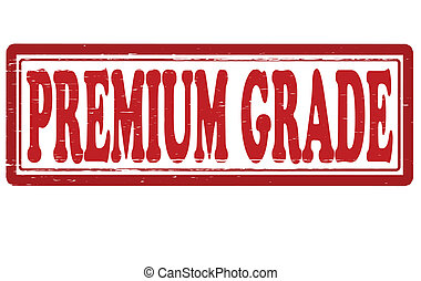 Premium grade - Stamp with text premium grade inside, vector...