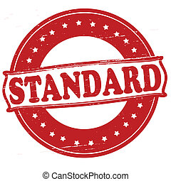 Standard - Stamp with text standard inside, vector...