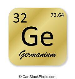 Germanium element - Black germanium element into golden...