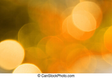 Orange background of blur circles lights, christmas...