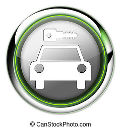Icon, Button, Pictogram Car Rental - Icon, Button, Pictogram...