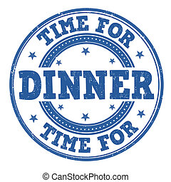 Time for dinner stamp