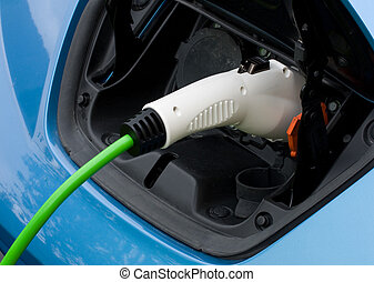 Charging Electric car - Charging an electric car using type...